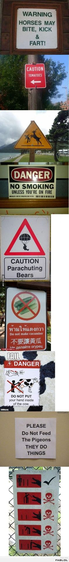 Funny notices to the public