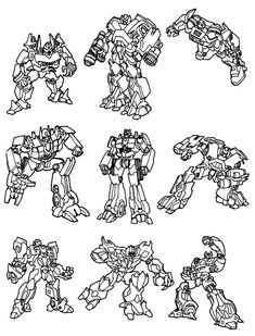 Coloring Page Transformers Free Boys