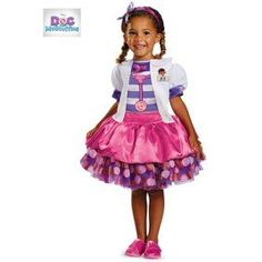 This Doc McStuffins Tutu Deluxe Costume is tutu cute. Our Doc McStuffins Tutu Deluxe Costume includes an adorable pink dress with an attached jacket and includes the headband and white coat. Doc Mcstuffins Outfit, Doc Mcstuffins Toys, Doc Mcstuffins Birthday Party, Doctor Mcstuffins, Costume Halloween, Classic Halloween Costumes, Last Minute Halloween Costumes, Doctor Halloween, Halloween 2014