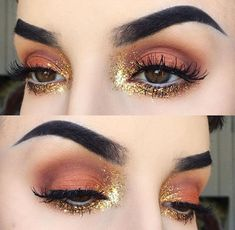 Amazing burnt orange eyeshadow