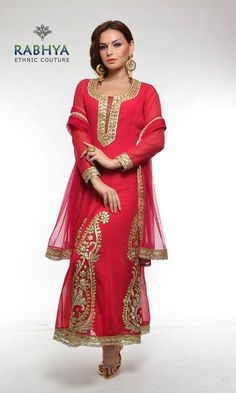Style Code : 0130 - Red anarkali suit Red anarkali with cutdana work on neckline and gota patti work on kalis. Matching lycra pajami and dupatta. Get Dashing and beautiful outfits online, just log on to: Rabhyaethnic.com or visit our store at: E-18, South Ex-II, New Delhi.