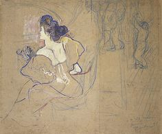 Madame Thadée Natanson (Misia Godebska, 1872–1950) at the Theater  1895. Henri de Toulouse-Lautrec