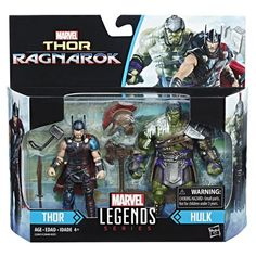 Hasbro Marvel Legends 3 3/4-Inch: Tho Ragnarok 2-Packs – Thor & Hulk - Marvel Legends 3 3/4-inch figures