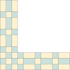 "TLC ""Bars and Blocks Quilt Border Pattern"""