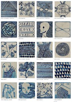 Love these! Lithography on stone and porcelain-limited edition tiles by Ruan Hoffmann