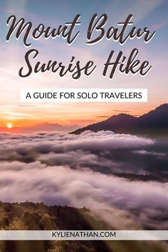 A sunrise hike up Mount Batur Volcano in Bali, Indonesia is one of the BEST things to add on your Bali itinerary. Here's everything you need to know for your sunrise hike up Mount Batur! Mount Batur Bali   Mount Batur Sunrise Hike   Mount Batur Sunrise   Mount Batur Bali Sunrises   Bali   Sunrise Hike   Bali Sunrises   Volcano   Trekking   Bali Trekking   Bali Photo