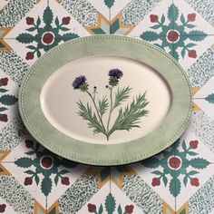 Andrea Zarraluqui - Handpainted Porcelain - Thistle Series