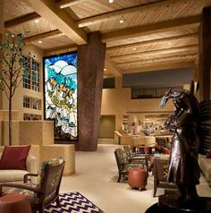 The first lobby / entrance you come to at Buffalo Thunder. There are also amazing restaurants and spas (and the casino)