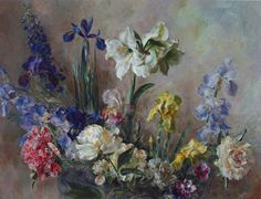 Mary's Flowers   Henriette Wyeth-Hurd  We have signed print of this one in our home.