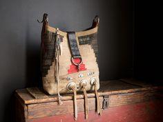 Navajo bucket bag.  By J. Augur Design 2015.  All vintage materials.