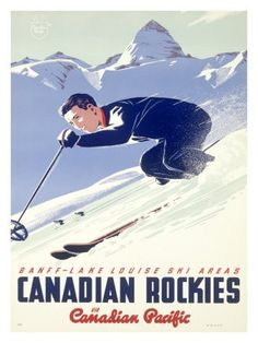 Canadian Rockies - Canadian Pacific #vintage #travel #poster #Canada