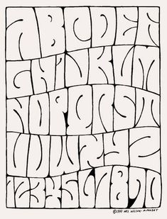 psychedelic alphabet by Wes Wilson