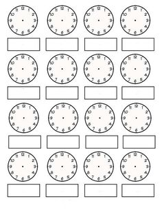 Come Tell Time With Me! If you need a clock, telling time templates to make games and activities, or assessment worksheets for assessing analog. Telling Time Games, Telling Time Activities, Teaching Time, Teaching Math, Math Activities, Fraction Activities, Math Games, Maths, Clock Worksheets