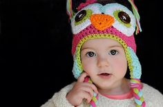 Adorable owl hat, that is custom made especially for you! You pick the colors and the size. All hats are made out of 100% cotton. Hats can be