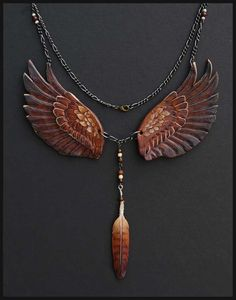 Royal Gryphon Leather Necklace - Beautiful and Creative Leather Jewelry by Wind Falcon