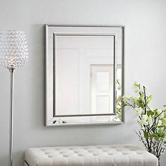 Small Silver Luxe Mirror | Kirklands