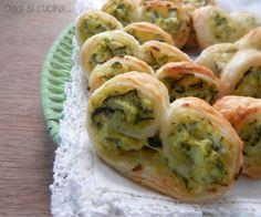 Ventagli di sfoglia con zucchine e philadelphia |Oggi si cucina