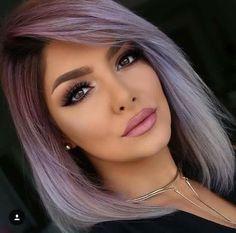 Silver Purple Hair, Purple Gray, Greyish Purple Hair, Purple Haze, Hair Color And Cut, Dream Hair, Crazy Hair, Gorgeous Hair, Pretty Hairstyles