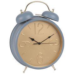 Vintage-Wecker aus Metall, blau | Maisons du Monde Palette, Alarm Clock, Diy, Home Decor, Inspiration, Objects, Vintage Alarm Clocks, Bedroom Ideas, Metal