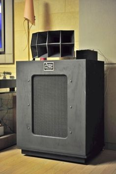 Open Baffle Speakers, Pro Audio Speakers, Horn Speakers, Monitor Speakers, Diy Speakers, Hifi Audio, Altec Lansing, Audio Room, Speaker Design