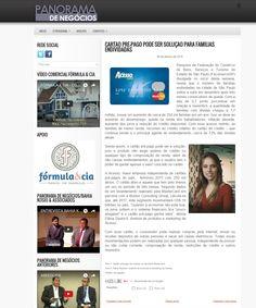 Título: Cartão pré-pago pode ser solução para famílias endividadas Veículo: Panorama de Negócios Data: 08/01/2016 Cliente: Acesso