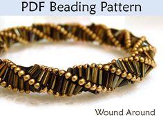 Beading Pattern Tutorial Necklace Bracelet Triple Helix Stitch