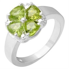 1.80ctw Genuine Peridot Ring Made in 925 Sterling Silver, Retail $200 http://www.propertyroom.com/l/l/9682319