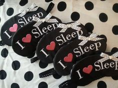 Ready to Ship I heart Sleep Sleepover Eye Mask Party Favors - Great for Sleepover, Spa, slumber party, Girls Night, Bachelorette on Etsy, $7.50