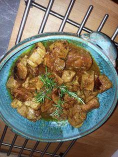 Sauté de porc au curry et au lait de coco - Recette de cuisine Marmiton : une recette