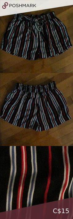 Striped shorts Size Small Cute multi striped ahorts from Bluenotes. Paper bag style with tie belt. Excellent condition, only worn a few times. Bluenotes Shorts Belt Tying, Striped Shorts, Fashion Bags, Casual Shorts, Product Description, Times, Best Deals, Paper, Skirts