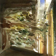 GRISAZUR: Acuarela sobre papel, 20x20 cm.Nov. 15, 2015