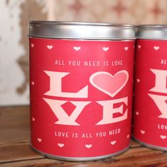 Vintage Charm - All You Need Is Love Candle