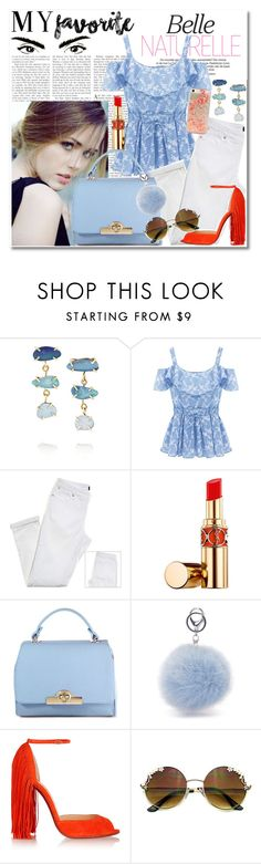 """""""blue eyed girl."""" by rach-is-a-fashion-major ❤ liked on Polyvore featuring Melissa Joy Manning, Yves Saint Laurent, Christian Louboutin, fringe, myfavorite, blueeyes and coldshoulder"""