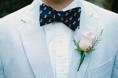 Breast Cancer Awareness bow tie | Rustic Preppy Barn Wedding In The Mountains of Tennessee | Photograph by Cortney Smith Photography http://storyboardwedding.com/rustic-preppy-barn-wedding-mountains-tennessee/