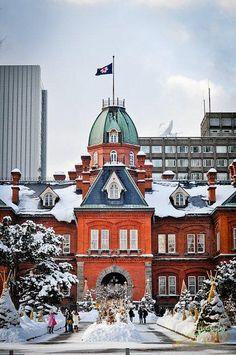 The Former Hokkaido Government Building :: Sapporo, Japan Hokkaido Winter, Places Around The World, Around The Worlds, Places To Travel, Places To Visit, Japan Holidays, Sapporo, Famous Places, Photos Du