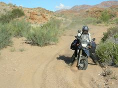 South Africa Namaqua land, and the three adventurous girls. - ADVrider. Riding river sand with heavily loaded adventure motorcycle is not easy. Overland trips do not get better than this.