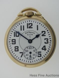 BW Raymond Elgin 16s Railroad 21J 571 Running Pocket Watch