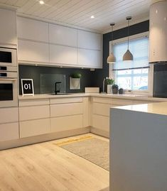 This would be the layout of our kitchen if we moved it to the game room. I like t … - White Kitchen Remodel Kitchen Dinning, Home Decor Kitchen, Interior Design Kitchen, Home Kitchens, Decorating Kitchen, Kitchen Ideas, Kitchen Modern, Modern Farmhouse, Open Plan Kitchen