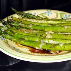 Asparagus with Parmesan Crust Allrecipes.com