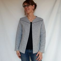 L'Incontournable par Marisa mlm / mlm patrons - thread&needles How To Make Clothes, Diy Clothes, Making Clothes, Couture Sewing, Cool Jackets, Dressmaking, Stylish, Sweaters, Cardigans