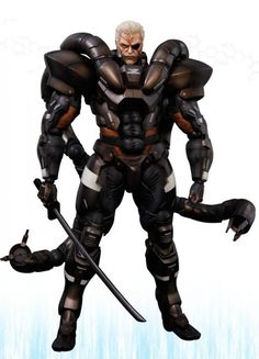Figurine Metal Gear Solid 2 Sons of liberty Play Arts Kai - Solidus Snake