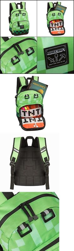 92c0e5b4ad Backpacks and Bags 57882  Minecraft Backpack School Bag Green Creeper  Rucksack Sport Waterproof -  BUY IT NOW ONLY   46.8 on eBay!