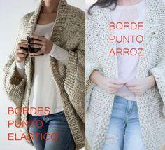 Patrones de Chaqueta Tejida con un Rectángulo / Paso a Paso | Crochet y Dos agujas - Patrones de tejido