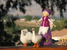 Needle+felted+goosegirl+waldorf+inspired+by+Made4uByMagic+on+Etsy,+$79.00