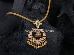 Simple gold chain with diamond chandbali pendant. The floral design interlaced with diamonds in close setting, the chandbali design diamond pendant Gold Pendent, Diamond Pendant, Gold Jewellery Design, Gold Jewelry, Fancy Jewellery, Resin Jewellery, Jewellery Shops, Jewelry Stores, Antique Jewelry