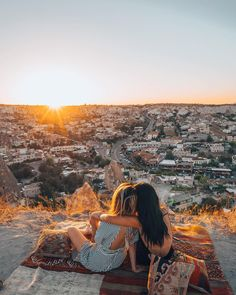 Watching the Sunset at Sunset Point, Cappadocia, Turkey | Travel & Style, BFF Goals, Adventure, Hiking, Outdoors. Instagram Photograph by @finding.jules