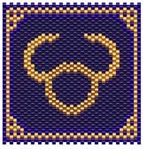 Zodiac Taurus Sigil - Item Number 3839
