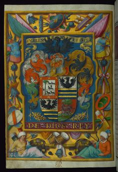 Patent of Nobility granted by Philip III to Don Luys Nuñez Perez, Coat of arms, Walters Manuscript .....