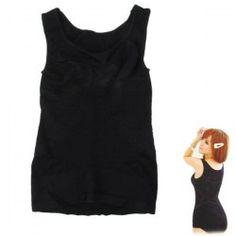 $5.55 High Quality Women's Black Shapewear Slimming Body Vest Tummy Enhancer - L Black Vest, Shapewear, Basic Tank Top, Tank Tops, Dresses, Fashion, Vestidos, Moda, Halter Tops