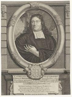 Portret van Laurentius Steversloot (1672-1736), predikant te Kudelstaart, Hamburg, Gouda en Leiden - Geheugen van Nederland
